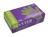 Vyšetrovacie rukavice Maxter latex, púdrované, 100 ks