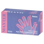 Vyšetrovacie rukavice Maxter nitril, nepúdrované, modré, 200 ks
