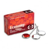 Zubní zrcátko Economy, ploché, 12 ks v balení