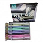 Zubní zrcátko Relax, rhodiované, vel. 4, ploché, 10 ks