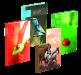 Kniha záznamní A5 65105 šitá, čtvereček, 100 listů