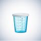 Veko na odmerný pohárik Med-Comfort Basic 30 ml, biely, 500 ks